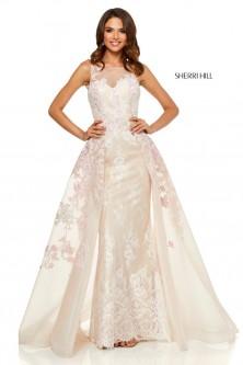 65fe72c60d Sherri Hill 52161 Feminine Floral Gown