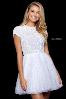 7b85816590e Sherri Hill 52163 Short Sparkling Homecoming Dress