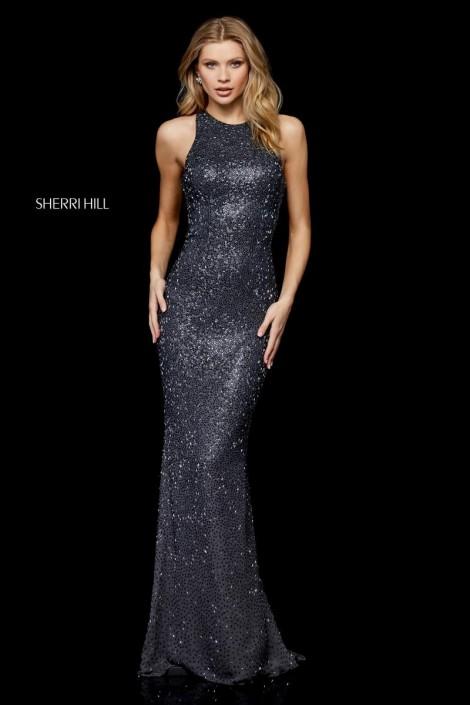 056b6c7c7000 Sherri Hill 52328 Stunning Sequin Racerback Gown: French Novelty