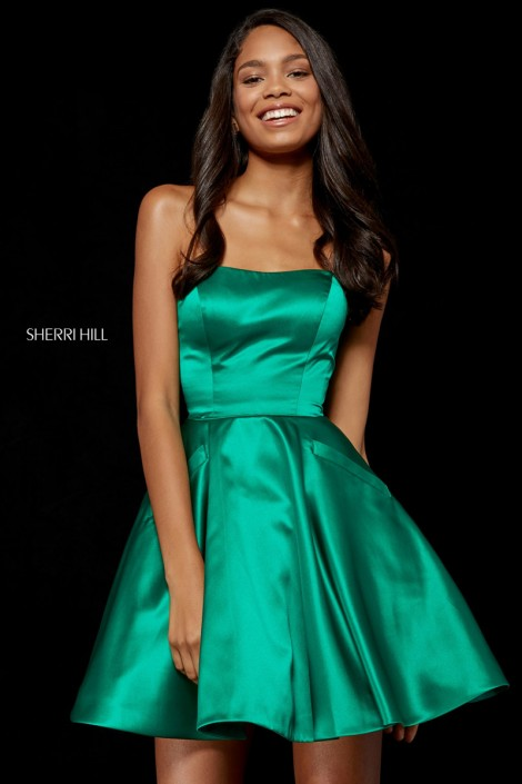 Sherri Hill 52397 Mikado Short A-Line Dress  French Novelty 6931f6c03