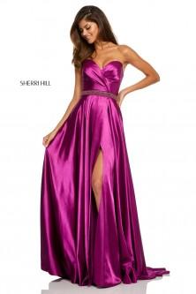 9ad05b28ef3 Sherri Hill 52415 Beaded Waist Prom Dress