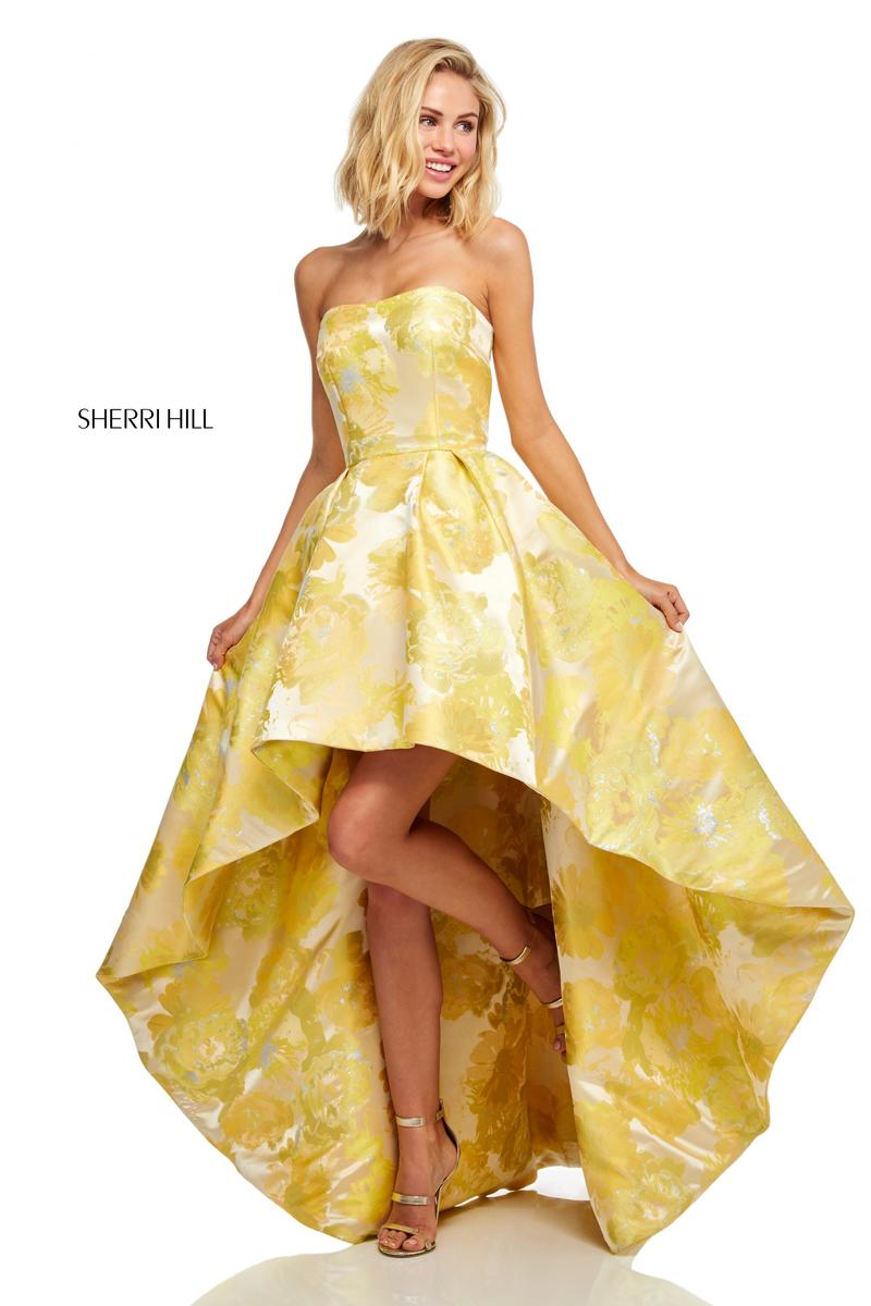 Sherri Hill 51177 Floral High Low Prom Dress: French Novelty