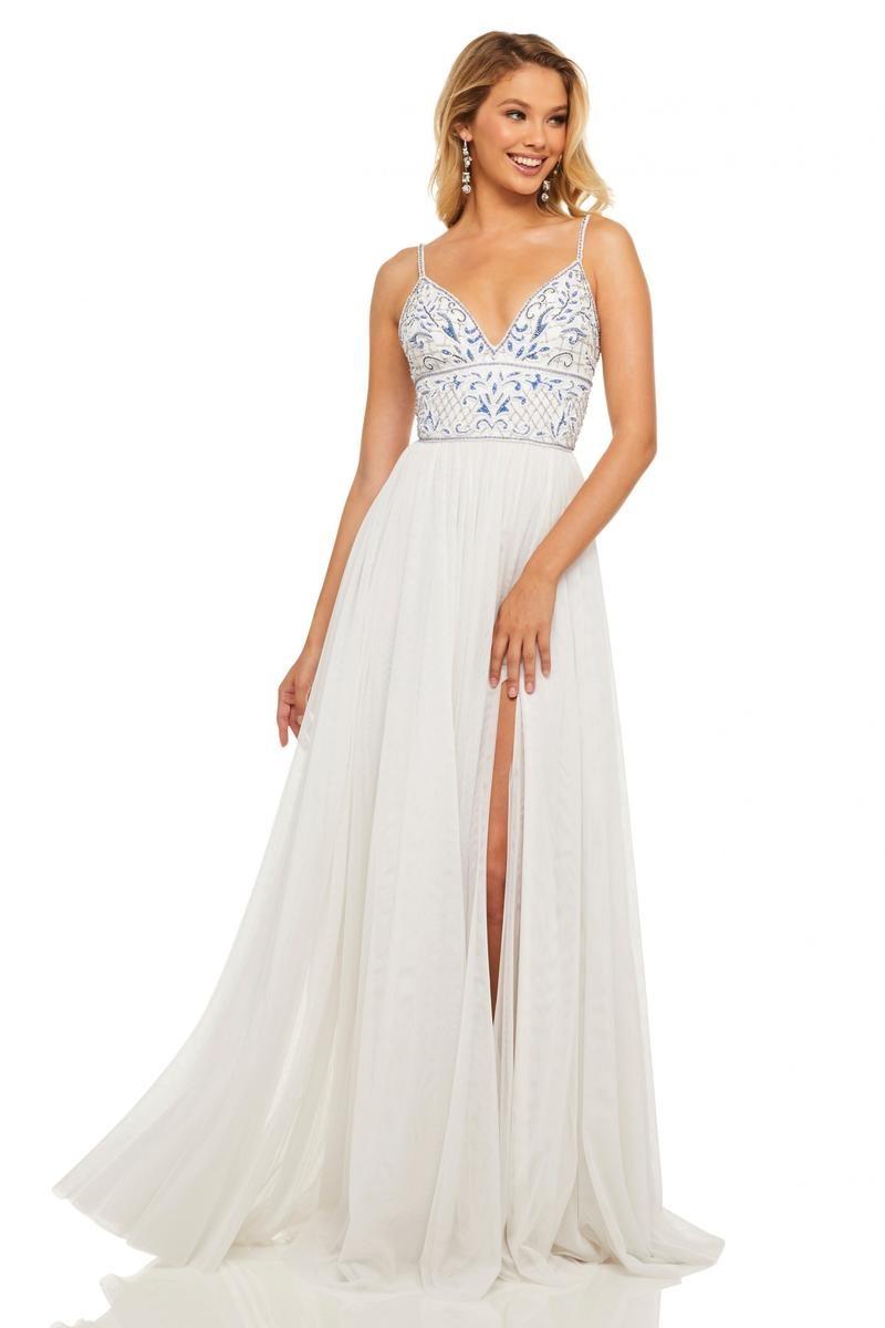 Sherri Hill 52450 Embellished Prom Dress French Novelty,Fall Black Tie Wedding Guest Dresses