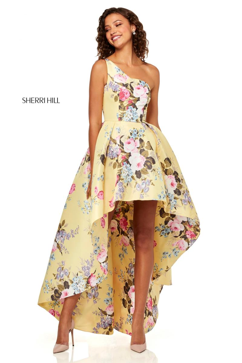 Sherri Hill 51003 Floral High Low Prom Dress: French Novelty