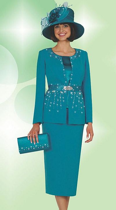 Fifth Sunday By Ben Marc Womens 3pc Church Suit 52537 French Novelty