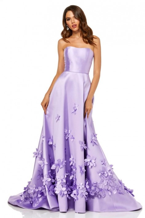 good service various design amazing selection Sherri Hill 52582 Prom Dress with 3-D Flowers: French Novelty
