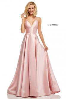 5695d37e1b7 Sherri Hill 52597 Beaded Pocket Prom Dress