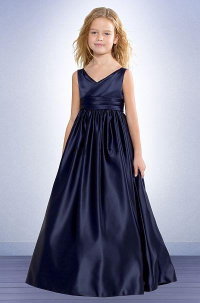 Bill Levkoff Flower Girls Satin Ball Gown 52601 French