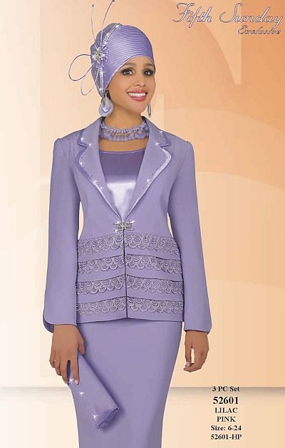 Fifth Sunday by Ben Marc Womens Pastel Church Suit 52601: French