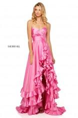 fd90fad3987d Size 4 Candy Pink Sherri Hill 52605 Tiered Ruffle Prom Dress