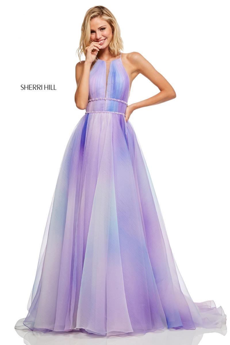 Sherri Hill 51042 High Low 2 Piece Prom Dress: French Novelty