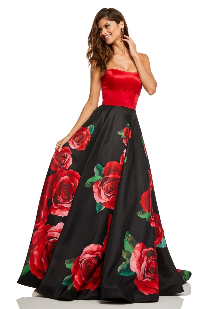 da7cdd7aec74 Sherri Hill 52722 Big Rose Prom Dress with Strappy Back: French Novelty