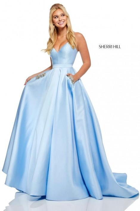 2e080231d9f Sherri Hill 52725 Beaded Pocket Lace Up Prom Dress  French Novelty