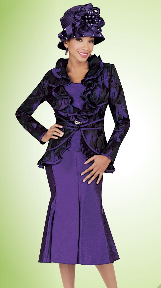 Ben Marc Fifth Sunday 52746 Ladies Ruffle Suit French Novelty