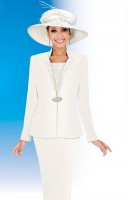 Ben Marc Fifth Sunday 52755 Womens Off White Church Suit image