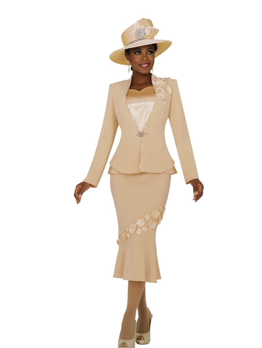Ben Marc Fifth Sunday 52774 Womens Suit With Flowers