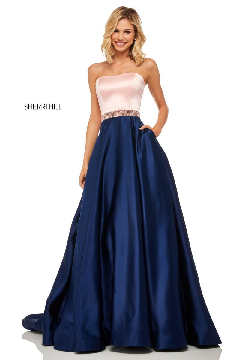 2f7b9d49627b Sherri Hill 52776 Strapless Two Tone Prom Dress: French Novelty