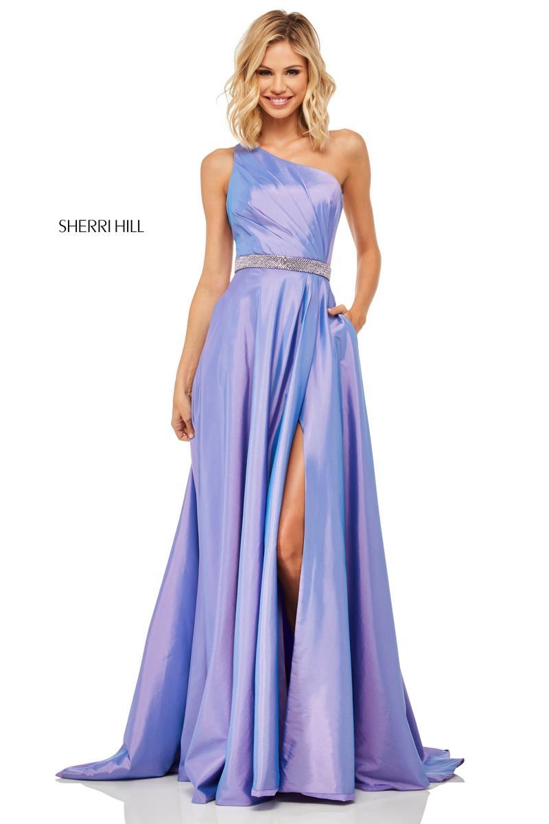 15c1bb9fc0 Sherri Hill 52838 Shimmering One Shoulder Prom Dress  French Novelty