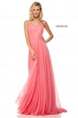 4db92b0757 Size 4 Coral Sherri Hill 52839 Lace Up Back Prom Dress