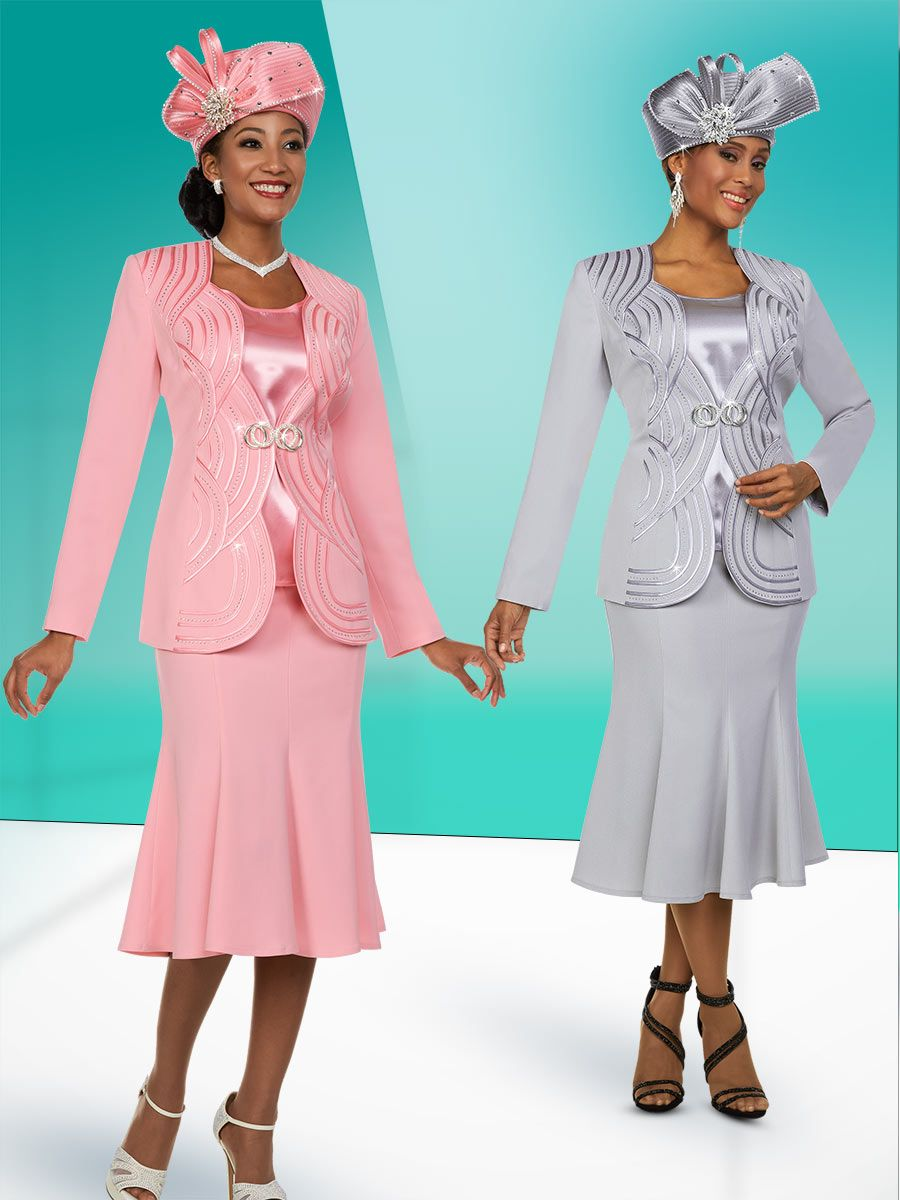 Ben Marc Fifth Sunday 52885 Ladies Scalloped Church Suit: French Novelty