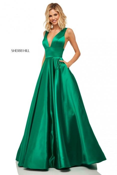 ba96bb6939e Sherri Hill 52911 Shimmering Prom Dress with Pockets  French Novelty