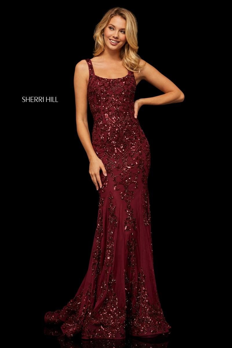 Sherri Hill 52925 Beaded Gala Dress French Novelty