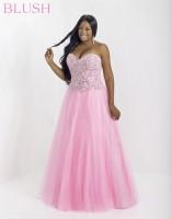 Blush W 5324W Plus Size Beaded Evening Dress image