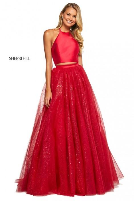 Size 0 Red Sherri Hill 53500 Glitter 2