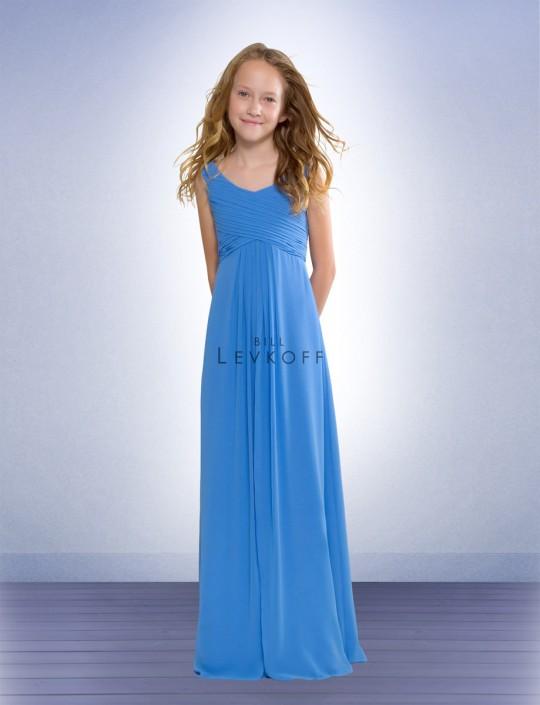Bill Levkoff Chiffon Junior Bridesmaids Dress 53702: French Novelty