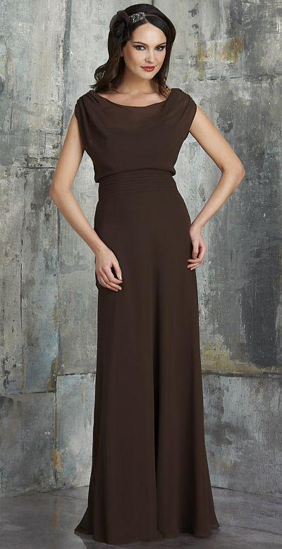 Bari Jay 540 Boat Neck Bridesmaid Dress With Illusion