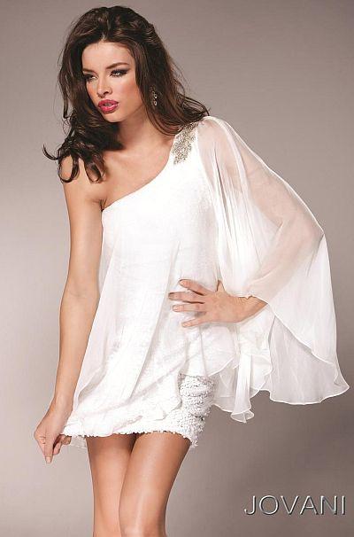 Jovani One Shoulder Short Homecoming Dress 5406: French Novelty