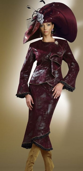 Donna Vinci Couture 5407 Womens Church Suit French Novelty