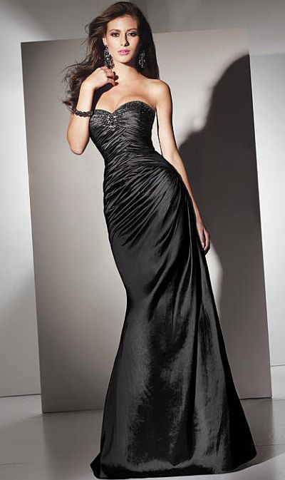 Jovani black mermaid prom dress