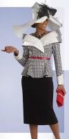 Size 16 White-Black Donna Vinci Couture 5452 Womens Church Suit image