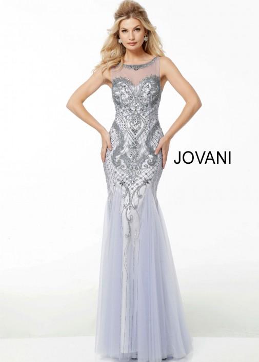 Jovani 54549 Sparkling Embellished Evening Dress French Novelty