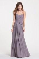 Size 12 Stone Watters 5514  Shirred Chiffon Bridesmaid Dress image