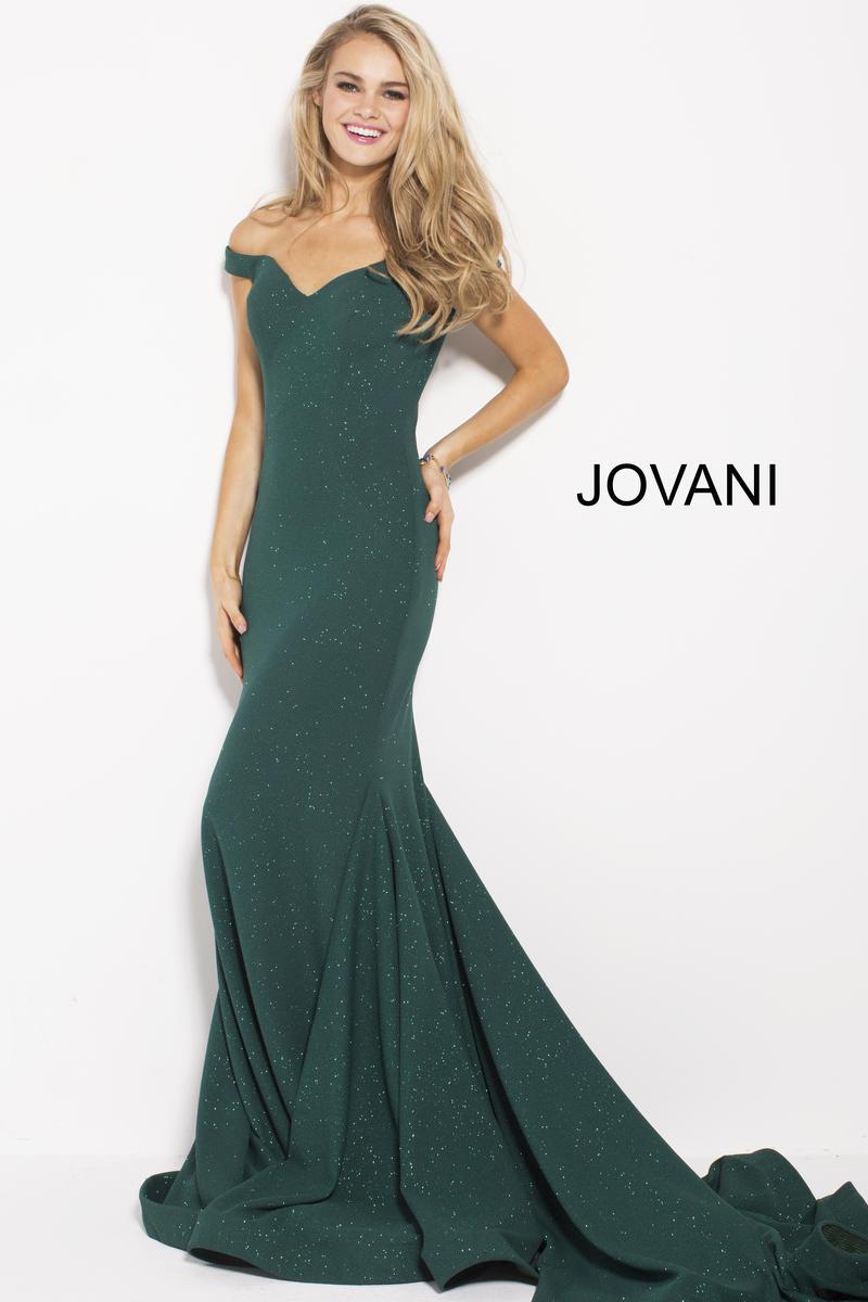 Size 4 Hunter Jovani 55187 Off The Shoulder Glitter Prom