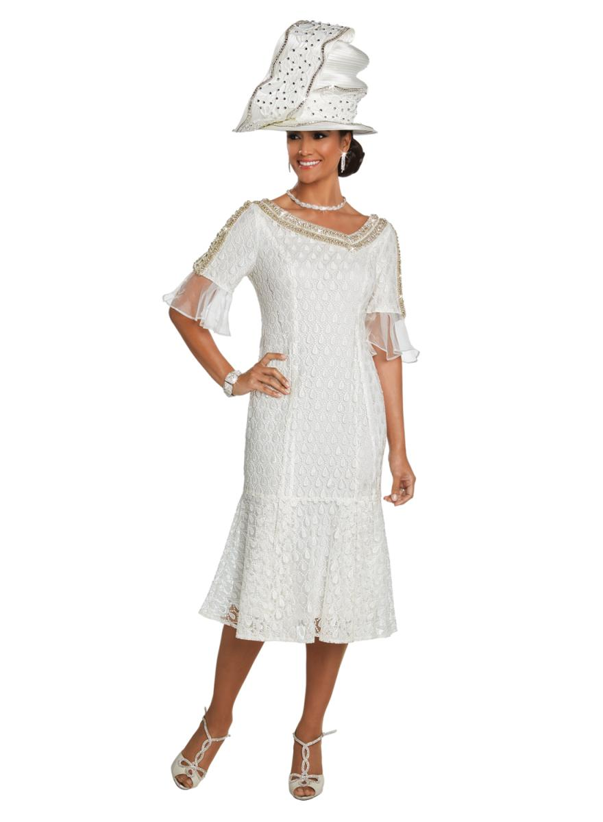 Donna Vinci Couture 5620 Ivory Dress French Novelty