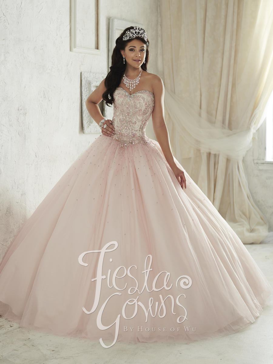 House Of Wu 56287 Fiesta Sequin Tulle Ball Gown French