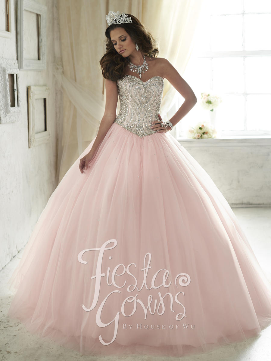 House of Wu 56290 Fiesta Gown with Crystals: French Novelty