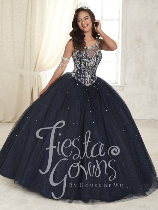 9c9261b8af962 House of Wu Fiesta 56306 Starry Night Ball Gown: French Novelty