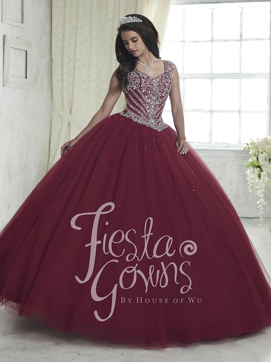 House Of Wu Fiesta 56312 Cap Sleeve Quince Dress French