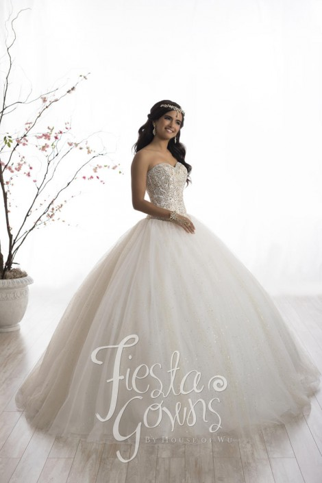 f3bbae1fe6b Wu Fiesta 56328 Glittering Quinceanera Dress  French Novelty