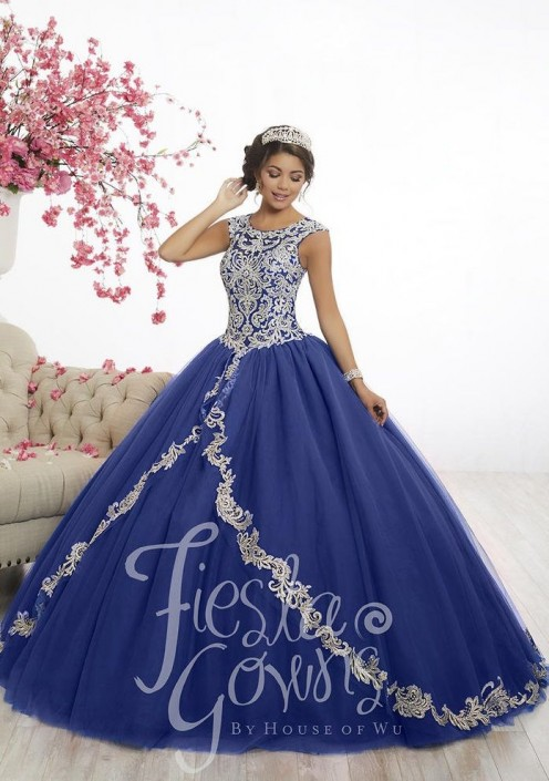 e373642a4972 Wu Fiesta 56336 Regal Beaded Quinceanera Dress: French Novelty