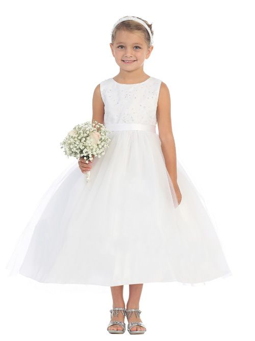 cozy fresh various colors sells Tip Top 5635 Flower Girls Ankle Length Dress