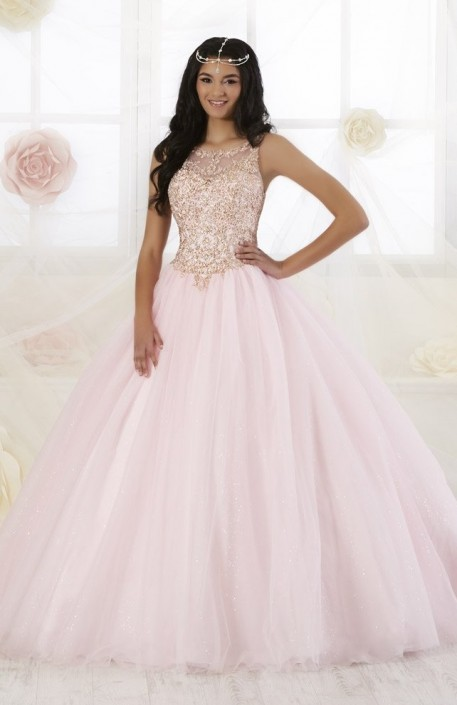e6bed58c860 Wu Fiesta 56358 Glitter Tulle Quince Dress  French Novelty