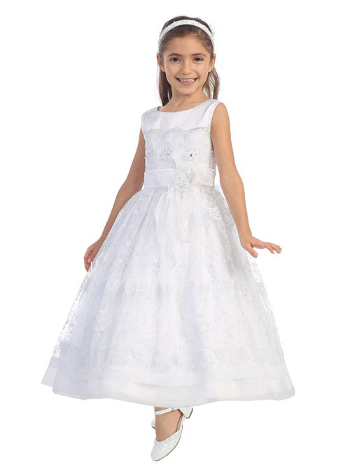 Tip Top 5640 Flower Girls Lace Dress French Novelty
