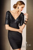 Alyce Black Label 5645 Band Jersey Cocktail Dress image