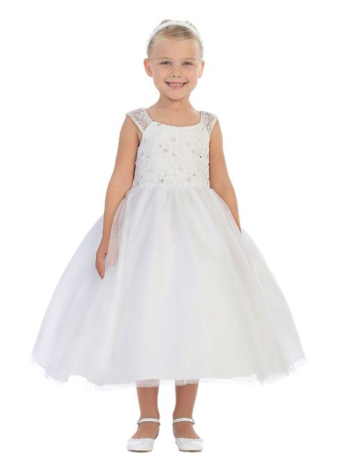 Tip Top 5646 Flower Girls Lace Dress: French Novelty