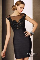 Alyce Black Label 5650 Cap Sleeve Cocktail Dress image